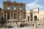 Ruins of Celsus Library, Ephesus, Turkey    Stock Photo - Premium Rights-Managed, Artist: Derek Shapton, Code: 700-01955657