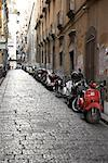 Motorcycles in Laneway, Naples, Italy    Stock Photo - Premium Rights-Managed, Artist: Derek Shapton, Code: 700-01955684