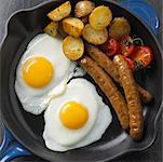 Eggs, Potatoes and Sausage    Stock Photo - Premium Rights-Managed, Artist: Michael Mahovlich, Code: 700-01955790