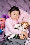 a girl sleeping on the bed Stock Photo - Premium Royalty-Free, Artist: Kevin Dodge, Code: 642-02006144