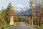 Entrance to Jasper Park Lodge, Jasper National Park, Alberta, Canada    Stock Photo - Premium Rights-Managed, Artist: Alec Pytlowany, Code: 700-02010307