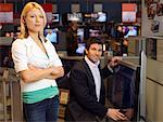 Couple with Television in Store    Stock Photo - Premium Rights-Managed, Artist: Matthias Tunger, Code: 700-02010603