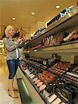 Woman Shopping for Cosmetics    Stock Photo - Premium Rights-Managed, Artist: Matthias Tunger, Code: 700-02010628