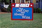 Election Sign in Yard    Stock Photo - Premium Rights-Managed, Artist: Arian Camilleri, Code: 700-02045999