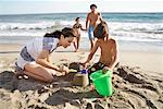 Family on Beach, Malibu, California, USA    Stock Photo - Premium Rights-Managed, Artist: Blue Images Online, Code: 700-02046197