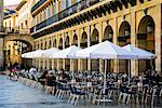 Cafe in Plaza, San Sebastian, Basque Country, Spain    Stock Photo - Premium Rights-Managed, Artist: R. Ian Lloyd, Code: 700-02046498