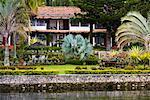 Hotel on Lake Shore, Lake Toba, Sumatra, Indonesia