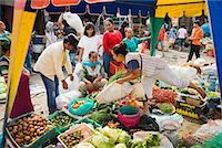 Fruit and Vegetable Stand at Market, Porsea, Sumatra, Indonesia    Stock Photo - Premium Rights-Managednull, Code: 700-02046565