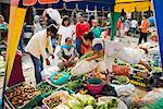 Fruit and Vegetable Stand at Market, Porsea, Sumatra, Indonesia