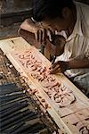 Wood Carver at Work, Pandai Sikat, Sumatra, Indonesia    Stock Photo - Premium Rights-Managed, Artist: R. Ian Lloyd, Code: 700-02046597