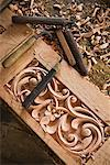 Wood Carving, Pandai Sikat, Sumatra, Indonesia    Stock Photo - Premium Rights-Managed, Artist: R. Ian Lloyd, Code: 700-02046599