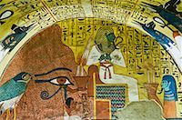 egyptian hieroglyphics - Osiris, Tomb of Pashedu, Deir Al-Medina, West Bank, Luxor, Egypt    Stock Photo - Premium Royalty-Freenull, Code: 600-02046684