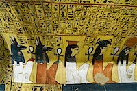 egyptian hieroglyphics - Procession of Gods, Tomb of Pashedu, Deir Al-Medina, west Bank, Luxor, Egypt    Stock Photo - Premium Royalty-Freenull, Code: 600-02046686