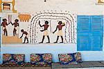 Painted House, Gurna Village, West Bank, Luxor, Egypt    Stock Photo - Premium Royalty-Free, Artist: Jochen Schlenker, Code: 600-02046704