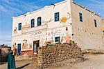 Pained House, Gurna Village, West Bank, Luxor, Egypt    Stock Photo - Premium Rights-Managed, Artist: Jochen Schlenker, Code: 700-02046857