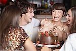Five people having fun and laughing at a birthday party in a restaurant Stock Photo - Premium Royalty-Free, Artist: Jeremy Maude, Code: 635-02051940