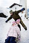 Children sledging down slope Stock Photo - Premium Royalty-Free, Artist: Robert Harding Images, Code: 649-02053541