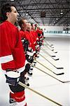 Hockey Team During National Anthem