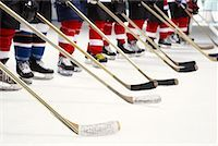 Hockey Team During National Anthem    Stock Photo - Premium Royalty-Freenull, Code: 600-02056097