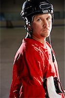 Portrait of Hockey Player    Stock Photo - Premium Royalty-Freenull, Code: 600-02056100