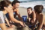 Family Playing on Beach, Malibu, California, USA    Stock Photo - Premium Rights-Managed, Artist: Blue Images Online, Code: 700-02056699