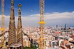 Sagrada Familia Towers and Cityscape, Catalunya, Spain