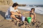 Father and Daughter Playing on Beach, Malibu, California, USA    Stock Photo - Premium Rights-Managed, Artist: Blue Images Online, Code: 700-02056700