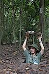 Soldier in Hiding Spot, Cu Chi, Vietnam    Stock Photo - Premium Rights-Managed, Artist: Sarah Murray, Code: 700-02063633