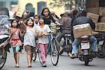 Children in City Street, Hanoi, Vietnam    Stock Photo - Premium Rights-Managed, Artist: Sarah Murray, Code: 700-02063639