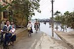 People Bicycling on Street, Hoi An, Vietnam    Stock Photo - Premium Rights-Managed, Artist: Sarah Murray, Code: 700-02063643