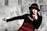 Female Hip Hop Dancer Wearing Hat