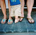 Close-Up of Family's Legs    Stock Photo - Premium Rights-Managed, Artist: Daniel Milnor, Code: 700-02071321