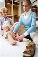 foot model - Physiotherapist Examining Woman's Foot    Stock Photo - Premium Rights-Managednull, Code: 700-02071788