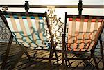 Deckchairs by the sea Stock Photo - Premium Royalty-Free, Artist: Robert Harding Images    , Code: 614-02073461