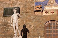 statue of david - Michelangelo's David, Piazza della Signoria, Florence, Tuscany, Italy    Stock Photo - Premium Rights-Managednull, Code: 700-02080078