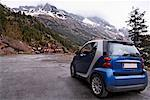 Smartcar on Mountain Road, Pyrenees, Aragon, Spain    Stock Photo - Premium Rights-Managed, Artist: Mike Randolph, Code: 700-02080281