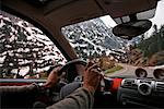 Interior of Car on Mountain Road, Pyrenees, Aragon, Spain    Stock Photo - Premium Rights-Managed, Artist: Mike Randolph, Code: 700-02080282