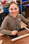 Portrait of Girl in Classroom    Stock Photo - Premium Rights-Managed, Artist: Norbert Kramer, Code: 700-02080335