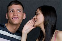 People Telling Secrets    Stock Photo - Premium Rights-Managednull, Code: 700-02080502