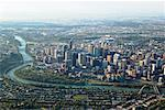 Aerial View of Calgary, Calgary, Alberta, Canada    Stock Photo - Premium Rights-Managed, Artist: Boden/Ledingham, Code: 700-02080983