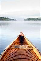Cedar Strip Canoe on Haliburton Lake, Ontario, Canada    Stock Photo - Premium Rights-Managednull, Code: 700-02081579