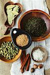 Variety of Herbs and Spices    Stock Photo - Premium Rights-Managed, Artist: John Cullen, Code: 700-02081589