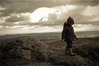 Boy Walking over Hills, Haytor, Dartmoor, Devon, England    Stock Photo - Premium Rights-Managednull, Code: 700-02082076