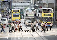 Street in Central Hong Kong Stock Photo - Premium Royalty-Freenull, Code: 670-02119442