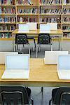 Laptops on Tables in School Library    Stock Photo - Premium Rights-Managed, Artist: Chris Hendrickson, Code: 700-02121511