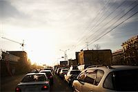 Sunset over City Traffic, Mongolia    Stock Photo - Premium Rights-Managednull, Code: 700-02121535