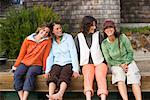 Women on Dock, Stinson Beach, California, USA    Stock Photo - Premium Rights-Managed, Artist: Ty Milford, Code: 700-02121682