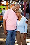 Couple at Amusement Park, Santa Monica Pier, Santa Monica, California, USA    Stock Photo - Premium Rights-Managed, Artist: Blue Images Online, Code: 700-02125356