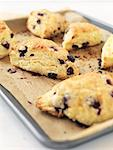 Blueberry Lemon Scones on Unbleached Parchment Paper    Stock Photo - Premium Rights-Managed, Artist: Jodi Pudge, Code: 700-02125480