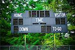 Scoreboard in High School Football Stadium, Ranier, Oregon    Stock Photo - Premium Rights-Managed, Artist: Ty Milford, Code: 700-02125529